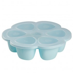Beaba Siliconen Tray Multiportions Blauw (6 x 90 ml)