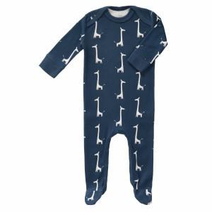 Fresk Pyjama met voetjes Giraf Indigo Blauw