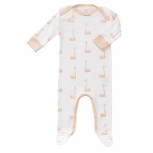 Fresk Pyjama met voetjes Zwaan Roze