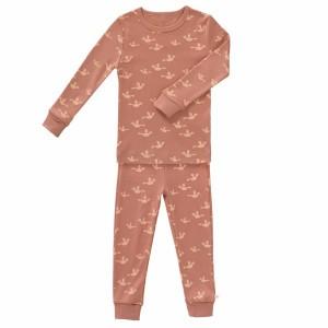 Fresk Pyjama 2-delig Vogels Oud Roze
