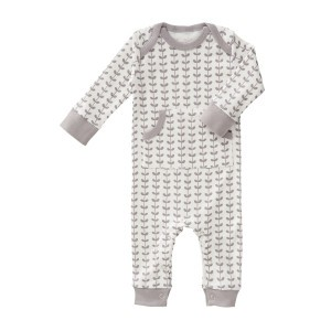 Fresk Pyjama Blaadjes Grijs