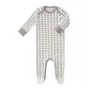 Fresk Pyjama met voetjes Blaadjes Grijs