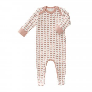 Fresk Pyjama met voetjes Blaadjes Roze