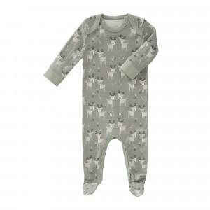 Fresk Pyjama met voetjes Hertje Groen