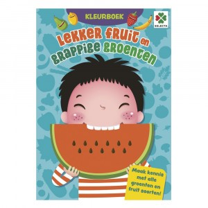 Selecta Kleurboek Lekker Fruit en Grappige Groenten
