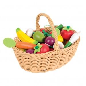 Janod Mandje met Groenten en Fruit (24  stuks)