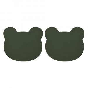Liewood Silicone Placemat (2-pack) Mr. Bear Hunter Green