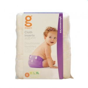 gDiapers Washable Cloth Inserts M-L-XL (5-16+kg)
