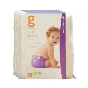 gDiapers Washable Cloth Inserts M-L-XL (5-16+kg) Voordeelpakket (3 pakken)