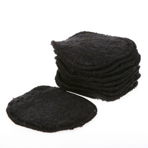 Cheeky Wipes Make-up Remover Pads Organisch katoenen Fleece (Sherpa) Zwart (10 stuks)