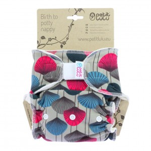 Petit Lulu One Size Luier Katoen Maxi Velcro Ginkgo  (7-16kg)