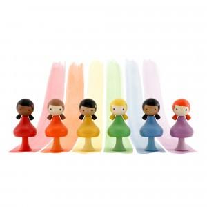 Clicques Houten Magneetfiguurtjes Rainbow Girls