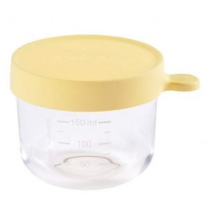 Beaba Glazen Bewaarpotje Geel (150 ml)