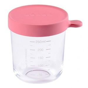 Beaba Glazen Bewaarpotje Roze (250 ml)
