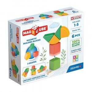 Geomag Magnetisch Speelgoed Magicube 3 Shapes Green Line Starter Set 6-delig