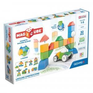 Geomag Magnetisch Speelgoed Magicube 4 Shapes Green Line World 32-delig