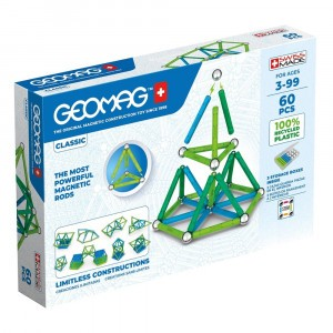 Geomag Magnetisch Speelgoed Classic Green Line 60-delig