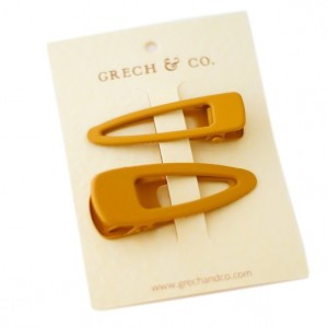 Grech & co. Haarspelden Matte Clips (set van 2) Golden