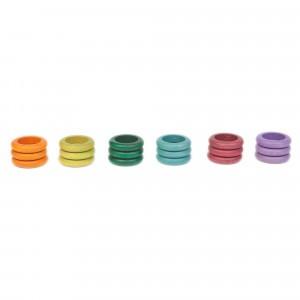 Grapat 18 houten ringen (zonder basiskleuren)