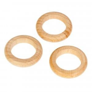 Grapat 3 houten ringen natuur