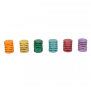 Grapat 36 houten munten (zonder basiskleuren)