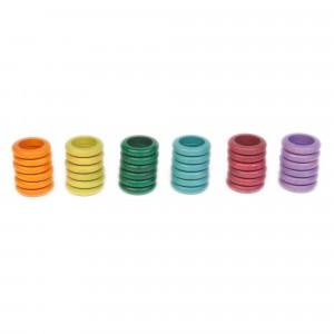 Grapat 36 houten ringen (zonder basiskleuren)