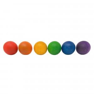 Grapat 6 houten balletjes (6 kleuren)