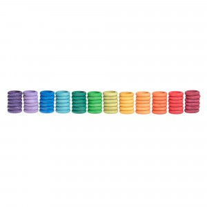 Grapat 72 houten ringen (12 kleuren)