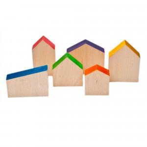 Grapat 6 houten huisjes