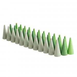 Grapat Mandala houten kegels groen