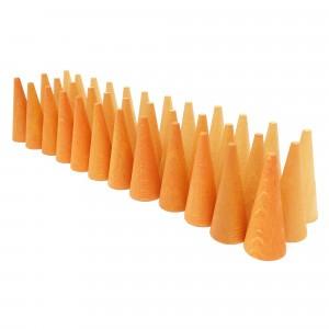 Grapat Mandala houten kegels oranje
