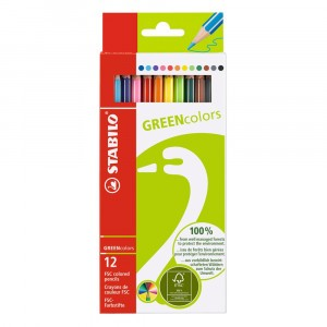 STABILO Green Kleurpotloden (12 stuks)