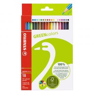 STABILO Green Kleurpotloden (18 stuks)
