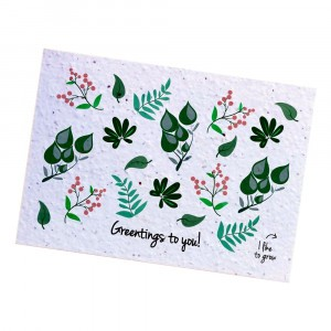 "Bloom Your Message Postkaart Flowers ""Greenting to You"""