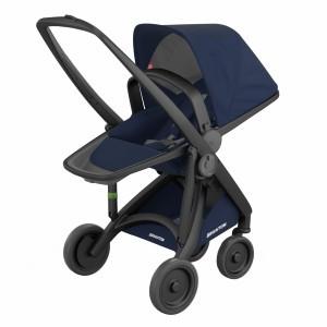 Greentom Kinderwagen Reversible Zwart/Blauw