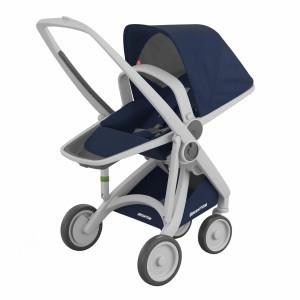 Greentom Kinderwagen Reversible Grijs/Blauw