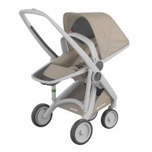 Greentom Kinderwagen Reversible Grijs/Sand