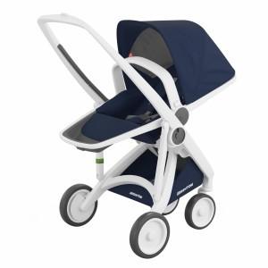 Greentom Kinderwagen Reversible Wit/Blauw