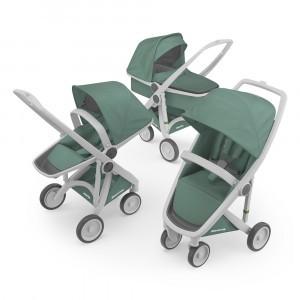 Greentom Kinderwagen 3-in-1 Sage/Grijs