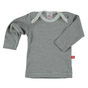 Limobasics T-shirt met lange mouwen Streepjes Antraciet/ Grijs Mélange