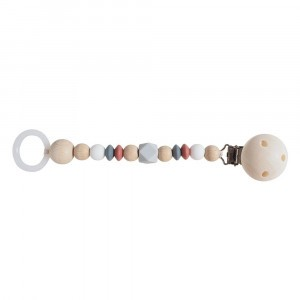 Kikadu Speenketting Grey/Rust