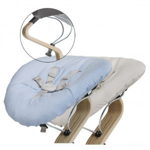 Nomi Baby Basis Grey met Matras Pale Blue/Sand