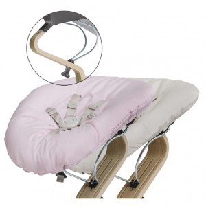 Nomi Baby Basis Grey met Matras Pale Pink/Sand