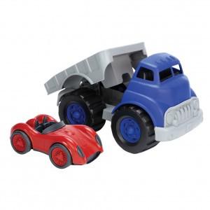 Green Toys Platte Vrachtwagen met Race-auto
