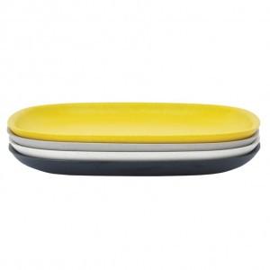 Ekobo Bord Groot Set (Zwart/Stone/Wit/Geel)
