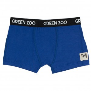 Green Zoo Boxer Short Adam Blauw Bamboo