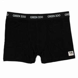 Green Zoo Mannen Boxer Short Adam Zwart Bamboo (voor volwassenen)