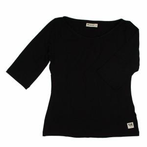 Green Zoo Vrouwen T-Shirt Lina Zwart Bamboo (voor volwassenen)