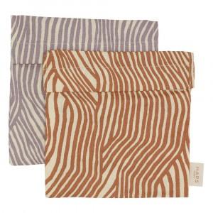 Haps Nordic Boterhamzakje (2-pack) Spring Wave Print