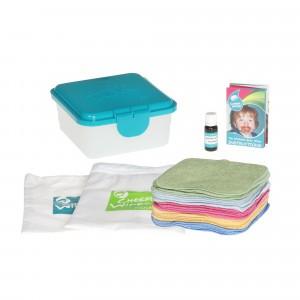 Cheeky Wipes Kit Hand en Gezicht met Premium Gekleurde Katoenen doekjes